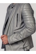Perfecto Cuir Homme Rome LADC Gris