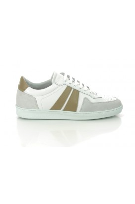 Sneakers Edition 6 Blanche Bande Beige National Standard Homme